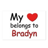 My heart belongs to bradyn Postcards (Package of 8