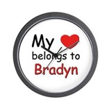 My heart belongs to bradyn Wall Clock