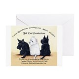 Scottie & Westie Logo Greeting Cards (Pk of 10)