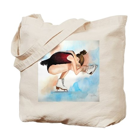 Ice Skater Sit Spin Tote Bag