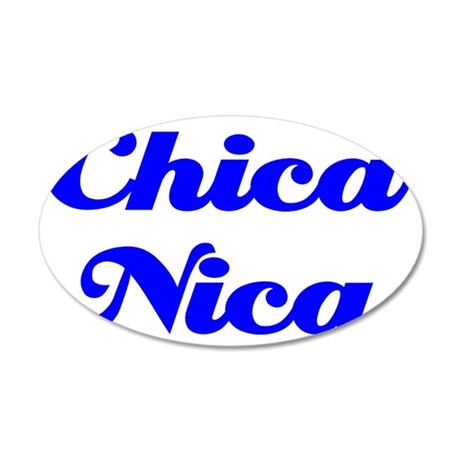 Chica Nica cp 35x21 Oval Wall Decal