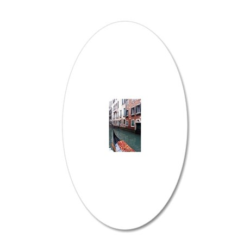 Gondola Ride 20x12 Oval Wall Decal