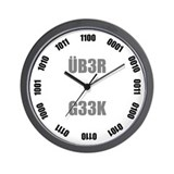 ÜB3R G33K Binary Wall Clock