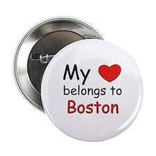 My heart belongs to boston Button