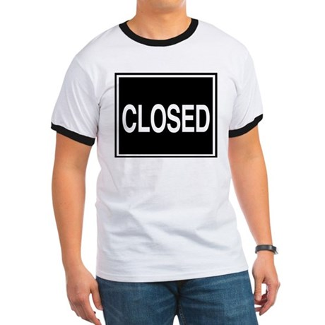 Closed sign. Ringer T