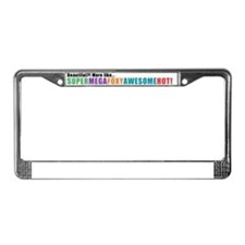 supermegafoxyawesomehot.gif License Plate Frame