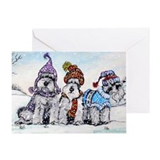 Christmas cap Greeting Card