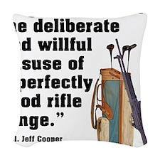 Jeff Cooper Woven Throw Pillow