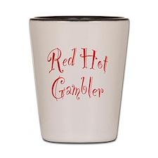 Red Hot Gambler Shot Glass