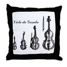 Viola da Gamba Throw Pillow
