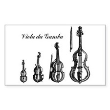 Viola da Gamba Rectangle Decal
