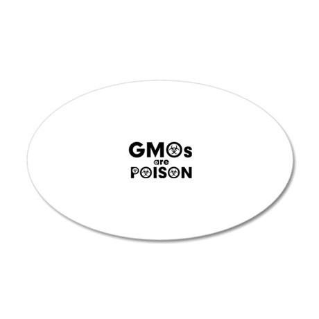 gmos are poison 20x12 Oval Wall Decal