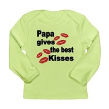 Papa Gives The Best Kisses Long Sleeve T-Shirt