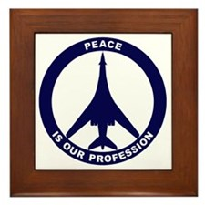 Peace Is Our Profession - B-1B Navy Bl Framed Tile