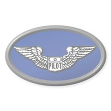 Pilot gear Oval Stickers