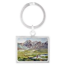 Fishing on the Owens Landscape Keychain
