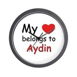 My heart belongs to aydin Wall Clock