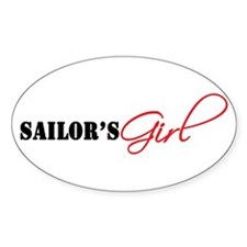 Sailor's Girl Oval Decal
