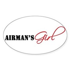 Airman's Girl Oval Decal