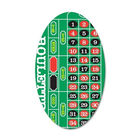 Roulette1 35x21 Oval Wall Decal