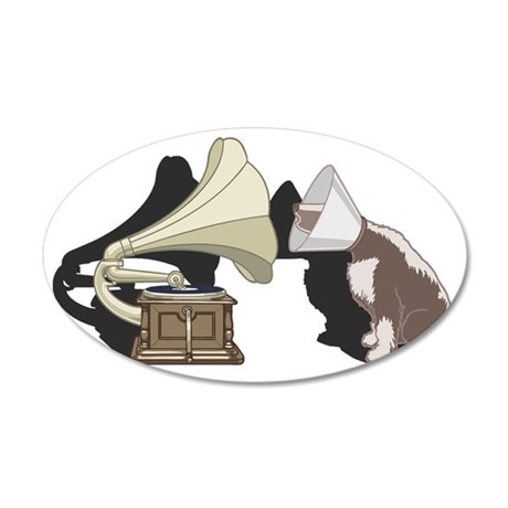 cone-dog-T 35x21 Oval Wall Decal