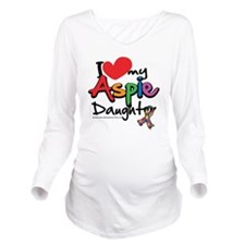 I-Love-My-Aspie-Daug Long Sleeve Maternity T-Shirt