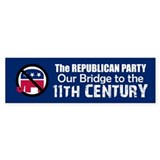 BRIDGE TO 11TH CENTURY Bumper Car Sticker