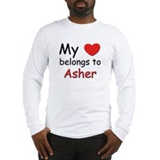 My heart belongs to asher Long Sleeve T-Shirt