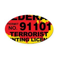 TH-License-FEDERAL Oval Car Magnet