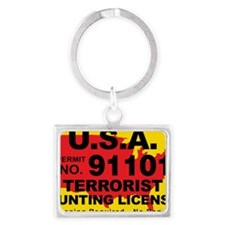 TH-License-usa Landscape Keychain
