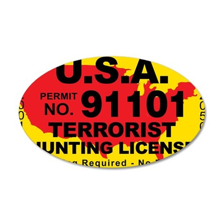 TH-License-usa 35x21 Oval Wall Decal