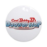Cool Bobby B's Doo Wop Stop Ornament (Round)