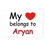 My heart belongs to aryan Postcards (Package of 8)