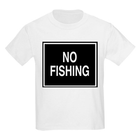 No Fishing sign Kids T-Shirt