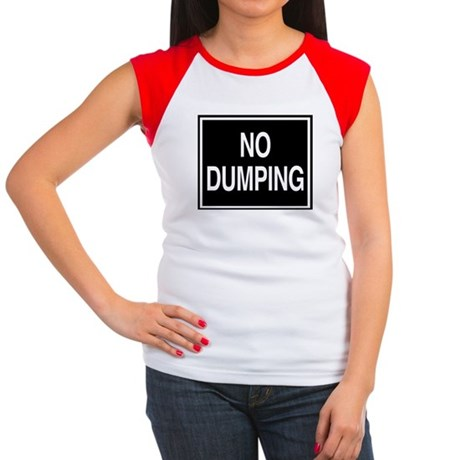 No Dumping sign Women's Cap Sleeve T-Shirt