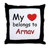 My heart belongs to arnav Throw Pillow