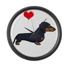 SS_I-Love-My-Weiner-cartoon-dark Large Wall Clock