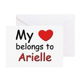 My heart belongs to arielle Greeting Cards (Packag