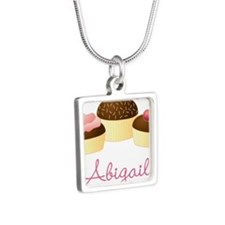Personalized Chocolate Cupcake Necklaces