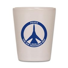 2-Peace The Old Fashioned Way - FB-111  Shot Glass