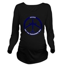 Peace The Old Fashio Long Sleeve Maternity T-Shirt