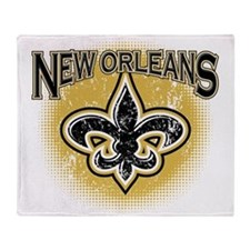 New Orleans Team Throw Blanket