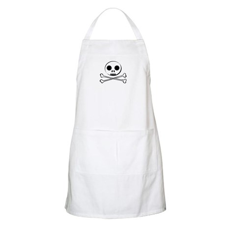 SKULL AND BONES BUDDY BBQ Apron