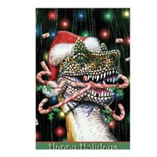Happy Holidays Dinosaur Postcards (Package of 8)