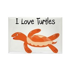 turk_turtle_orange Rectangle Magnet