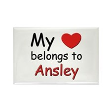 My heart belongs to ansley Rectangle Magnet