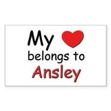 My heart belongs to ansley Rectangle Decal