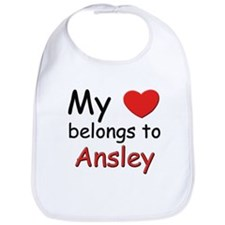 My heart belongs to ansley Bib