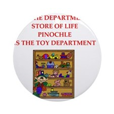 PINOCHLE player gifts t-shirts Round Ornament