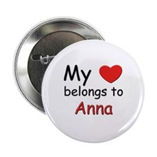 My heart belongs to anna Button